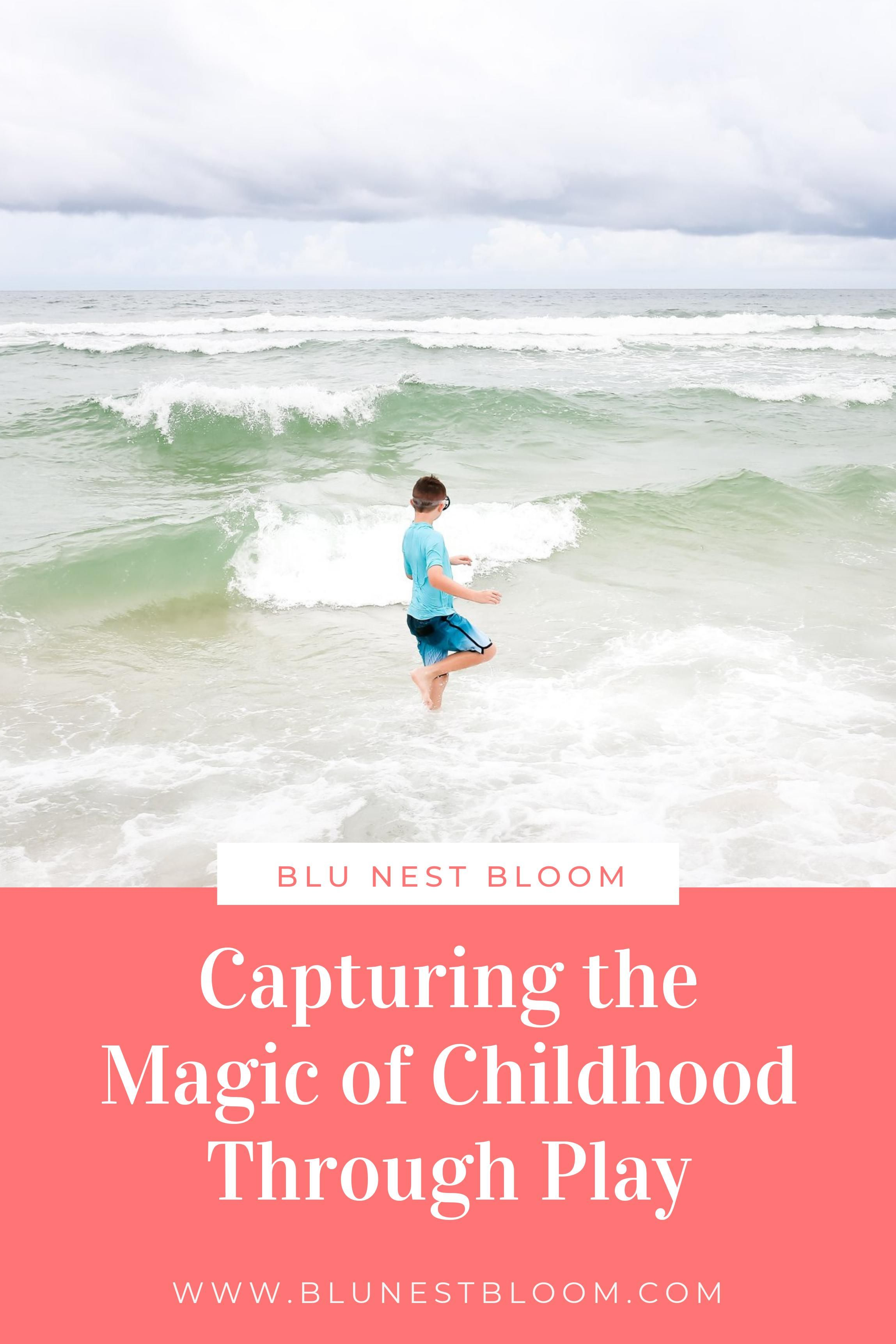 Capturing the magic of childhood through play isn't as tough as it may sound. Check out my favorite tips for capturing beautiful, authentic photos of your child as they journey through the magical time of childhood. #momtographer #momswithcameras #magicofchildhood #photographytips