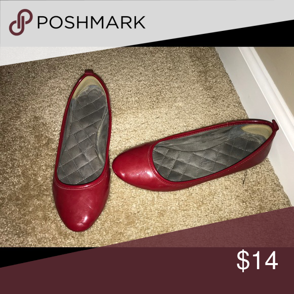 Red Ballet Flats Gap size 7 red ballet flats. Excellent used condition. Very c…