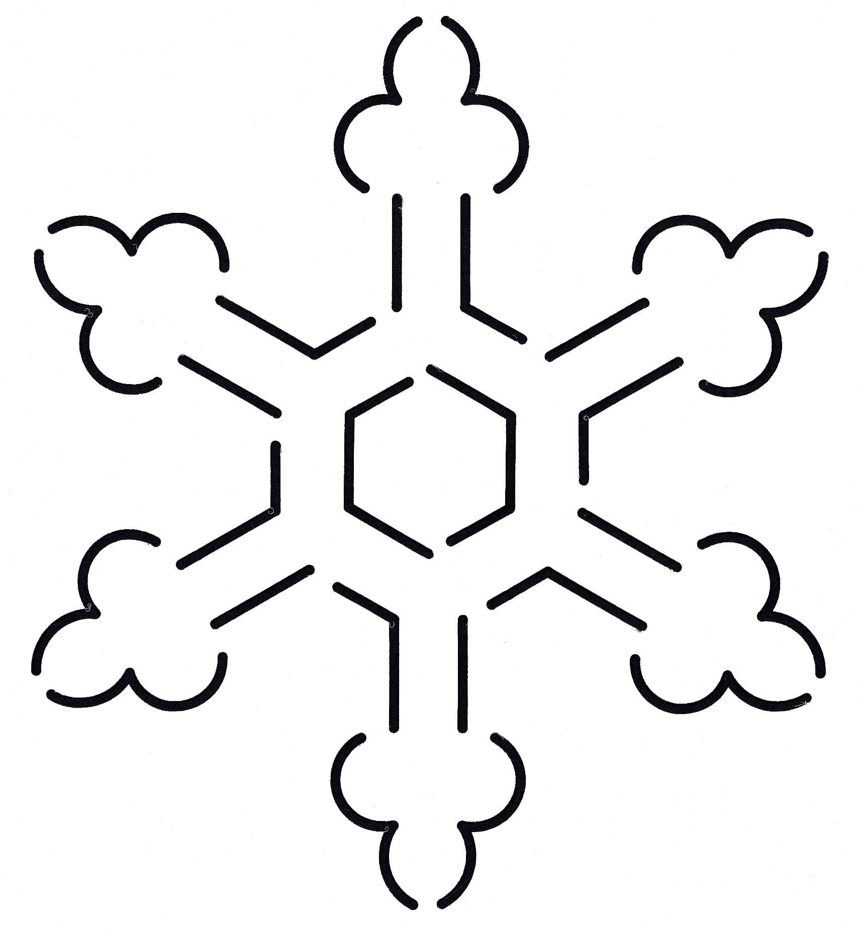 Quilt Stencil Snowflake 5-1/4in x 6in | Stenciling, Applique ... : snowflake quilting stencil - Adamdwight.com