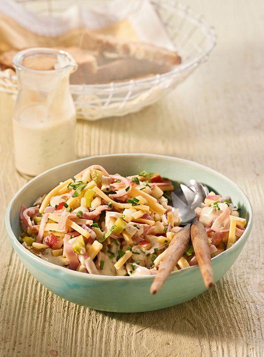 k sesalat einfach lecker leckere salate pinterest schinken k se und salat. Black Bedroom Furniture Sets. Home Design Ideas