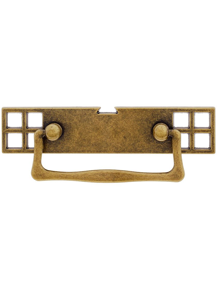 Mackintosh Bail Pull With Pierced Back Plate 2 1 2 Center To Center In 2021 Mackintosh Furniture Mackintosh Drawer Pulls