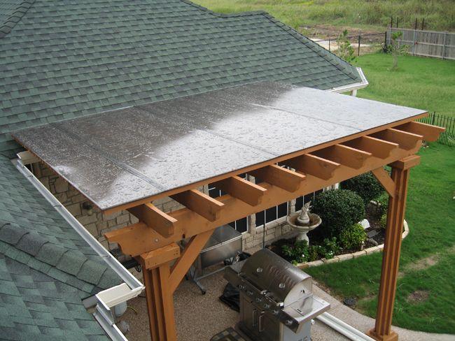 Polygal Plastic Rain Cover Over Deck