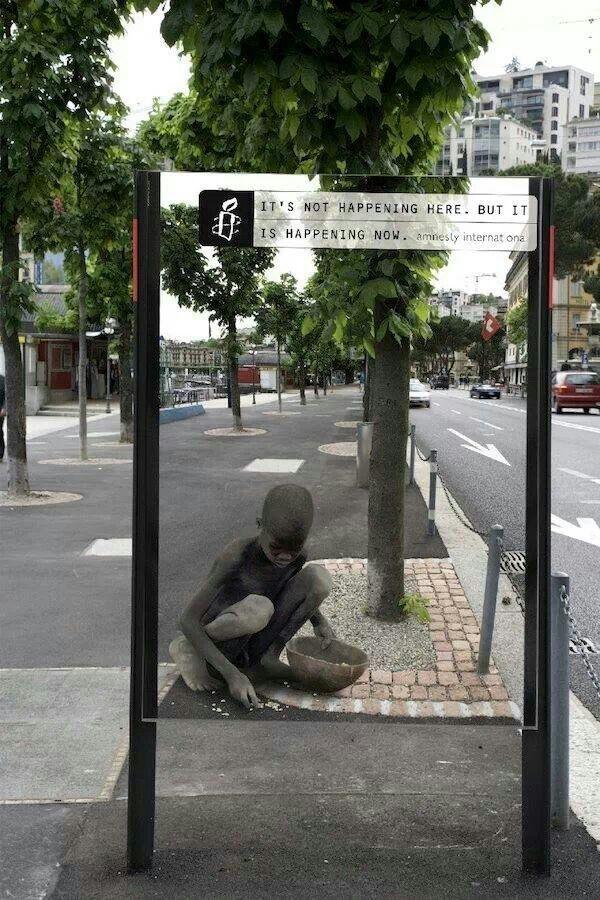 Amnesty advertising #guerrilla #street #sofantastic