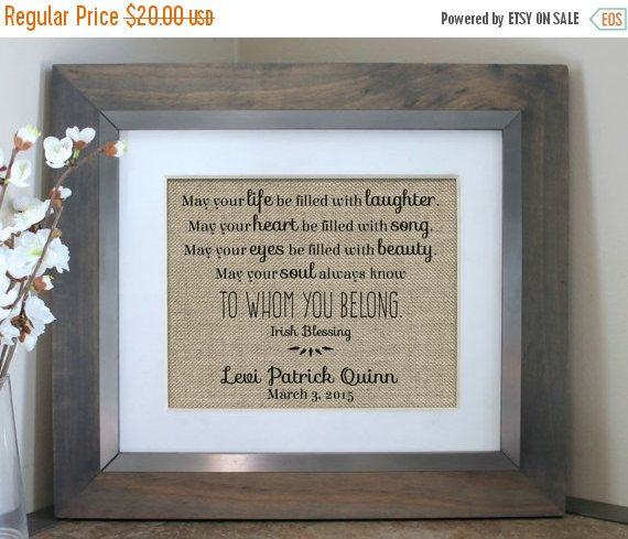Irish blessing baby nursery decor personalized baby shower gift irish blessing baby nursery decor personalized baby shower gift gift from godparents or first negle Choice Image