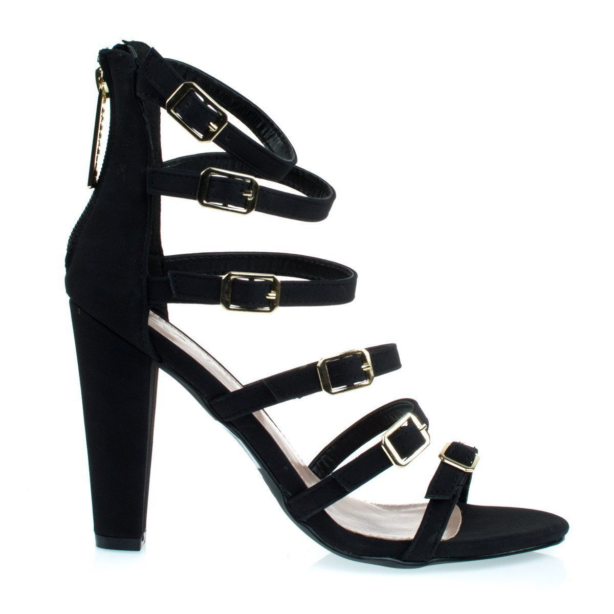 Womens Adjustable Buckle High Heel Party Shoes