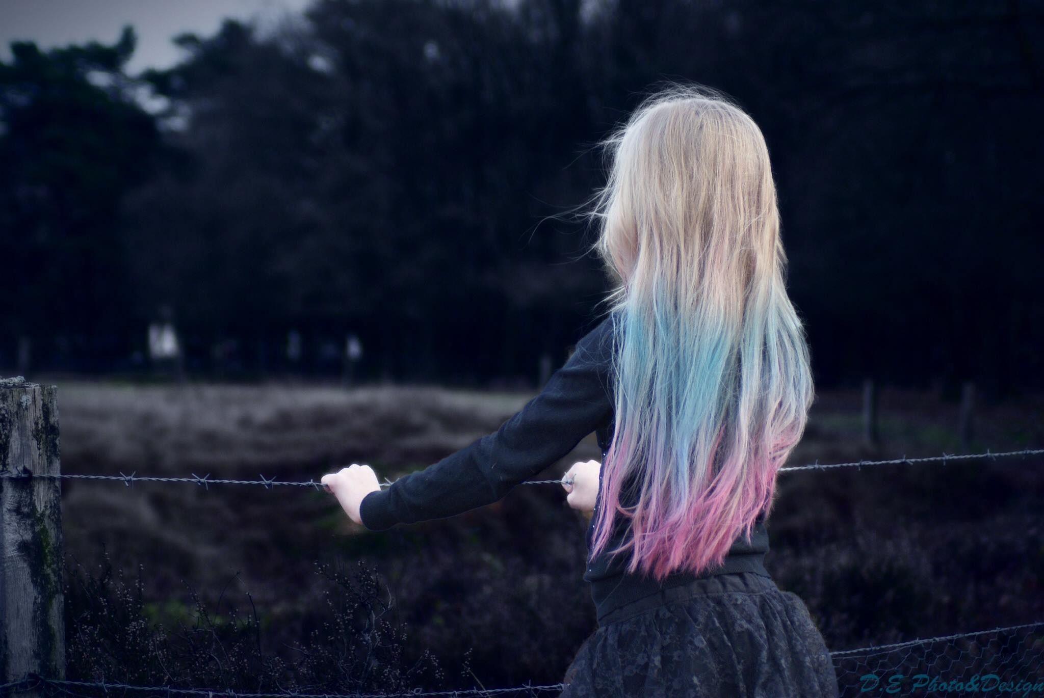Hair chalk pastel  Fotografie, haar en kleding zelf gemaakt