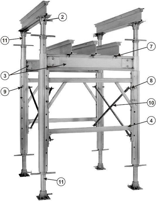 Aluminum Shoring Post : Hi lite aluminum concrete forming shoring and building