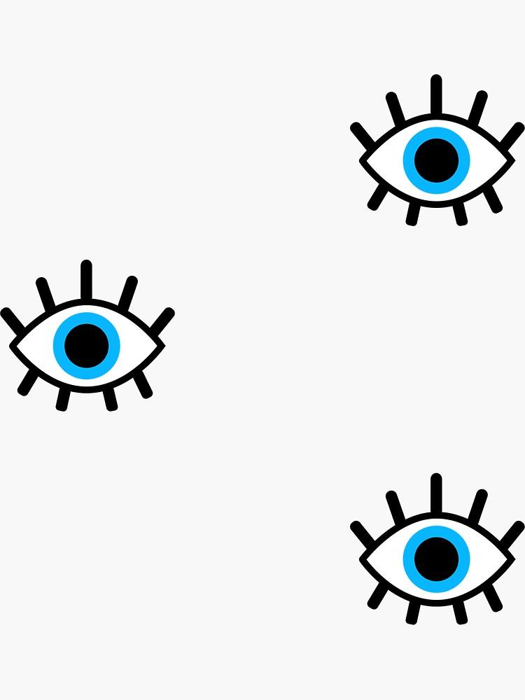 Magic Eye Trio Sticker By Emably Evil Eye Art Eyes Wallpaper Evil Eye Tattoo
