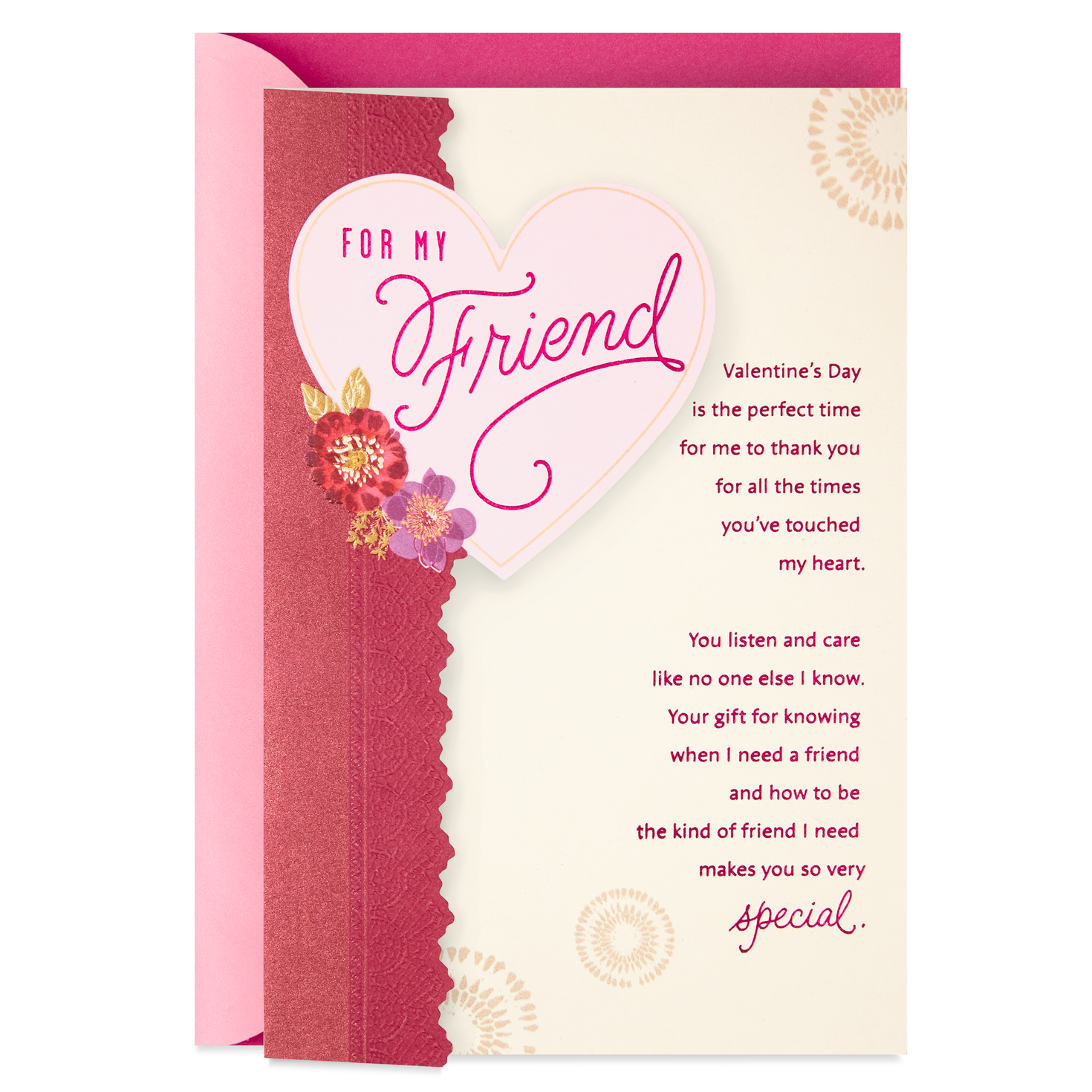 for my friend valentine's day card  greeting cards