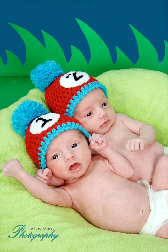 If I ever have twins! haha. PATTERN Thing 1 & Thing 2 Dr. Seuss Hats ...