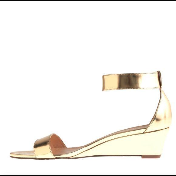 b2ce8e057f9f J. Crew Shoes - J Crew Lillian Mirror Metallic Low Wedges Gold ...