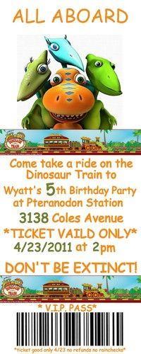 Dinosaur Train Invitations Google Search Birthday Parties In