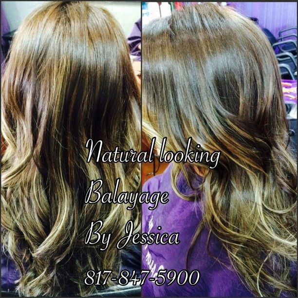 Natural soft #ombre by Jessica at our #FossilCreek location. #sombre #SalonPurple #Pravana #colorproof #teampurple