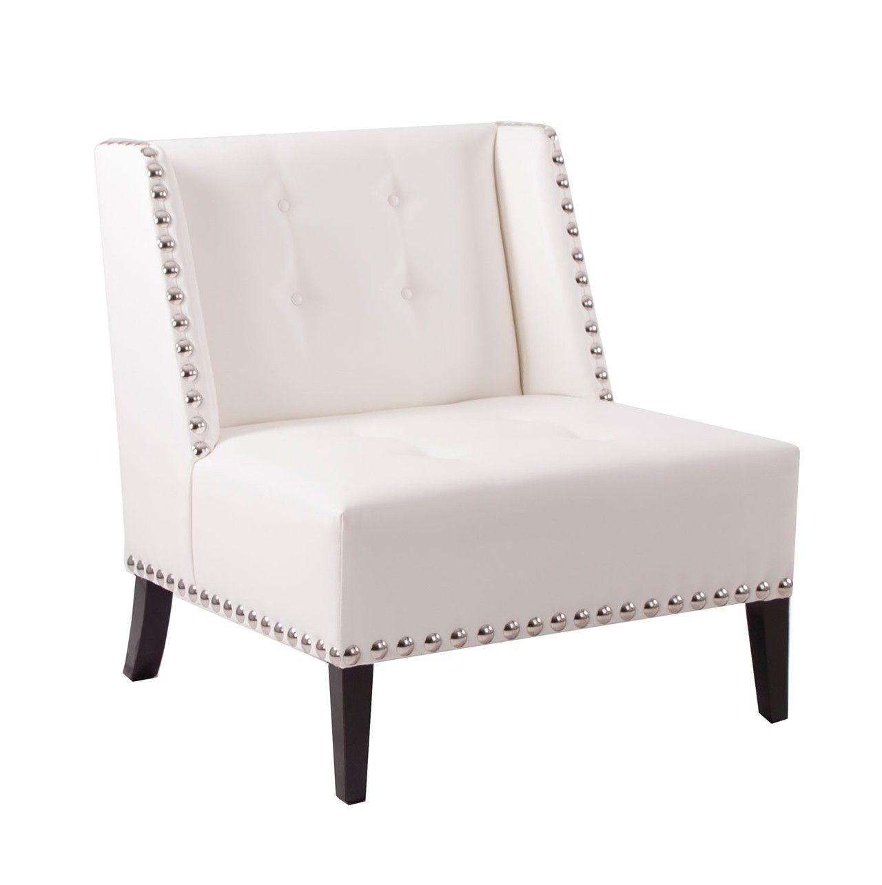 Sillón individual en color #blanco con #tachuelas. Comodísimo sofá ...