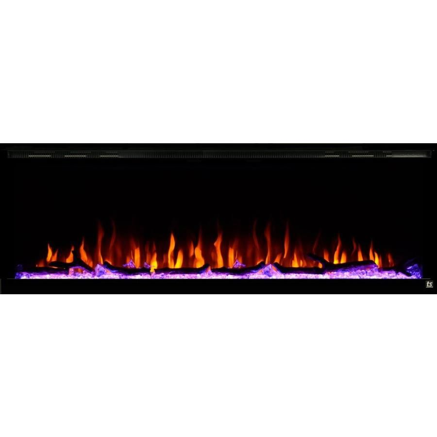 Touchstone 59 75 In W Black Fan Forced Electric Fireplace 80037 In