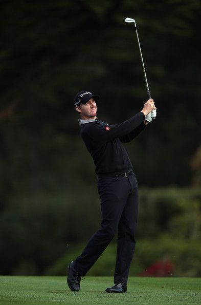 Jimmy Walker Hits His Second Shot From The 16th Fairway During First Round Of At T Pebble Beach National Pro Am Golf Links On