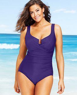 7d8a2d533ed0c Large Bust, Tummy Control Swimwear - Macy's | swimsuits | Plus size ...