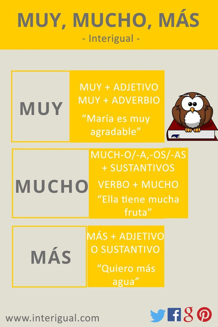 Muy - Mucho - Más learn Spanish / Spanish grammar   Tips To Learn ...