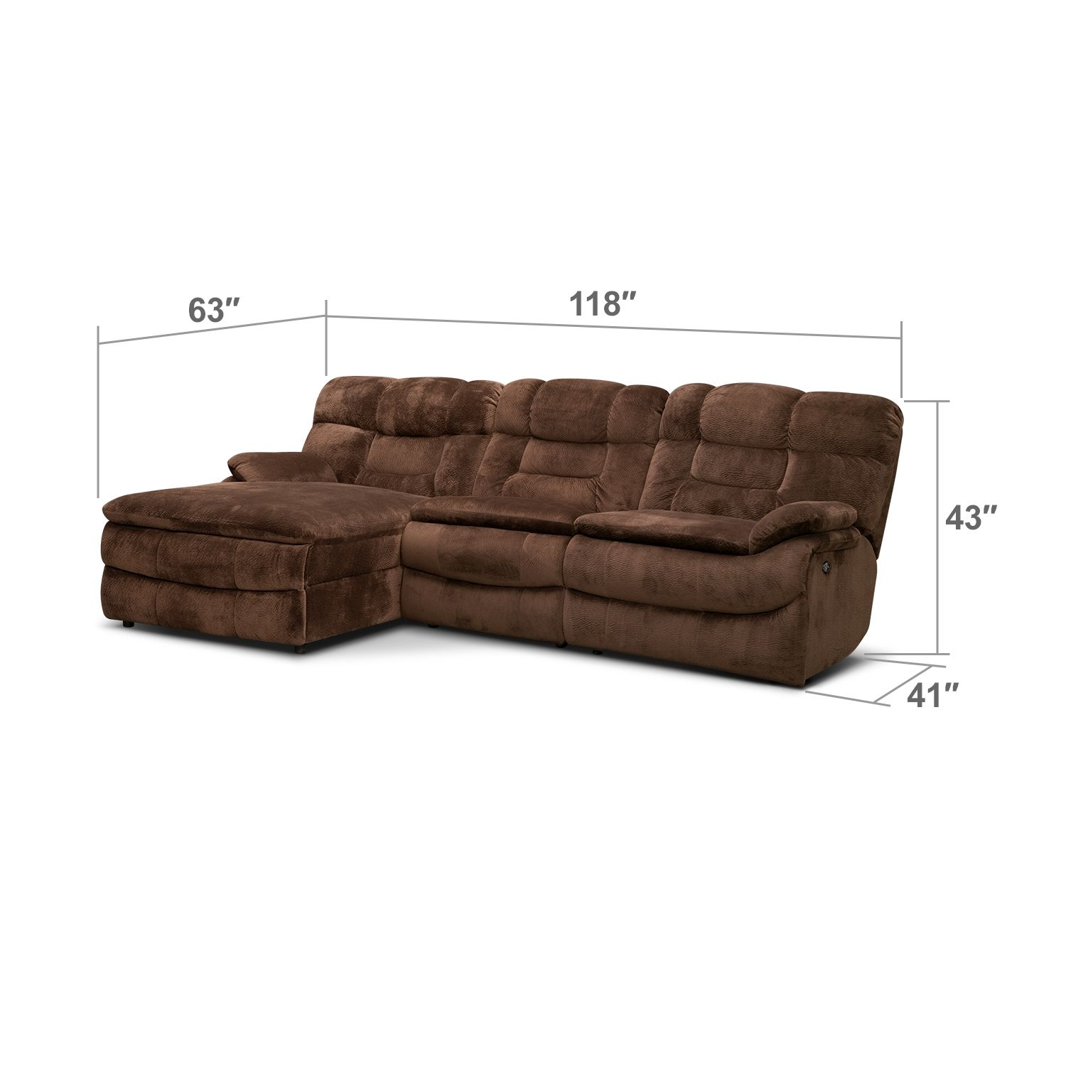 Big Softie 3 Pc. Power Reclining Sectional (Reverse) by One80 | Value City  sc 1 st  Pinterest : one80 sectional - Sectionals, Sofas & Couches