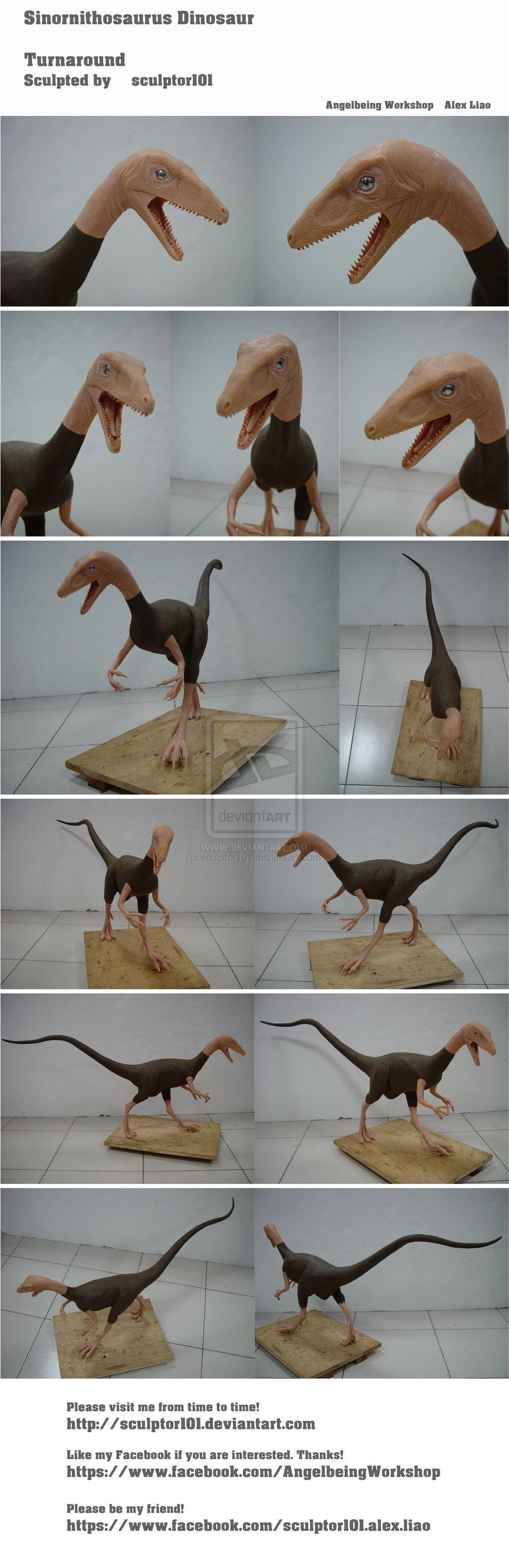 Sinornithosaurus Dinosaur Turnaround by sculptor101.deviantart.com on @deviantART #dinosaurpics