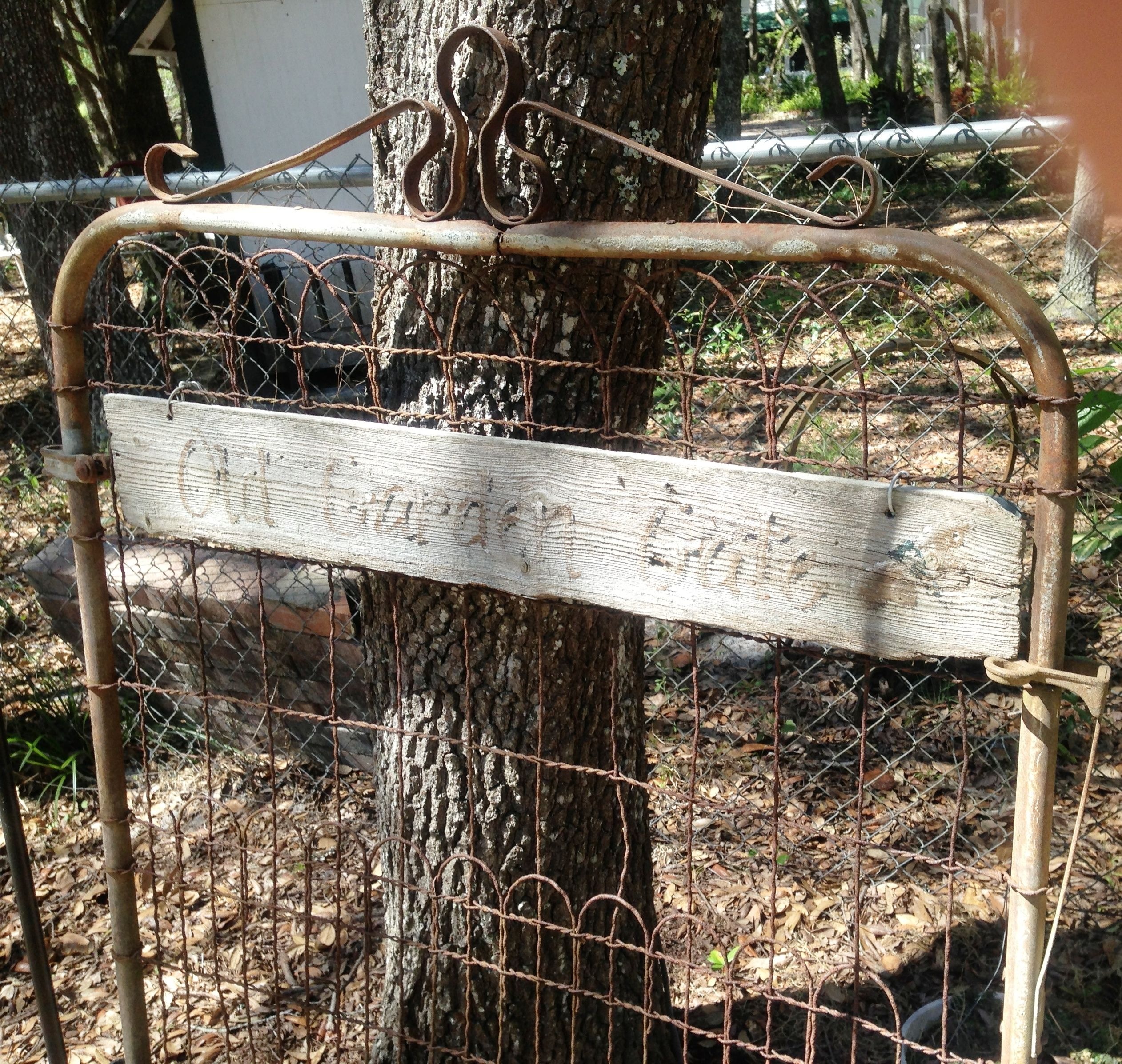 Our Garden Gate                                           Finding old gates is a complete treasure!           Just lean it against a tree Always inviting!