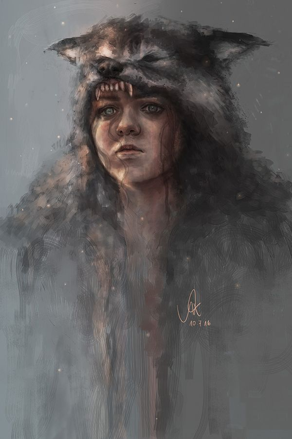 Winter Has Arrived Awesome Digital Painting Of Arya Stark By Njahlii Like Us On Facebook Game Of Thrones Arya Game Of Thrones Wolves Game Of Thrones Fans