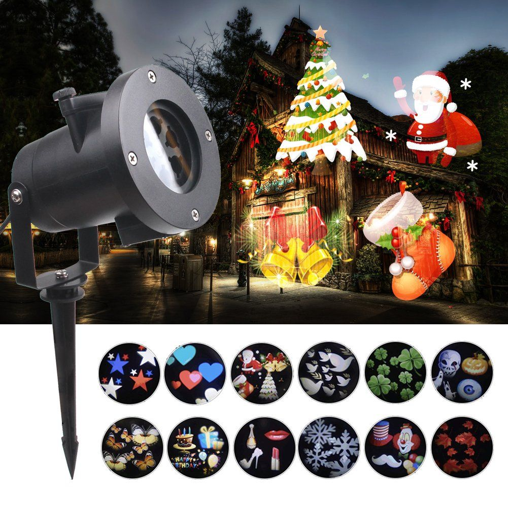 KOOT Christmas Lights Projector 12 Pattern Holiday Projector Outdoor Waterproof Landscape for Decoration Lighting on  sc 1 st  Pinterest & KOOT Christmas Lights Projector 12 Pattern Holiday Projector ...