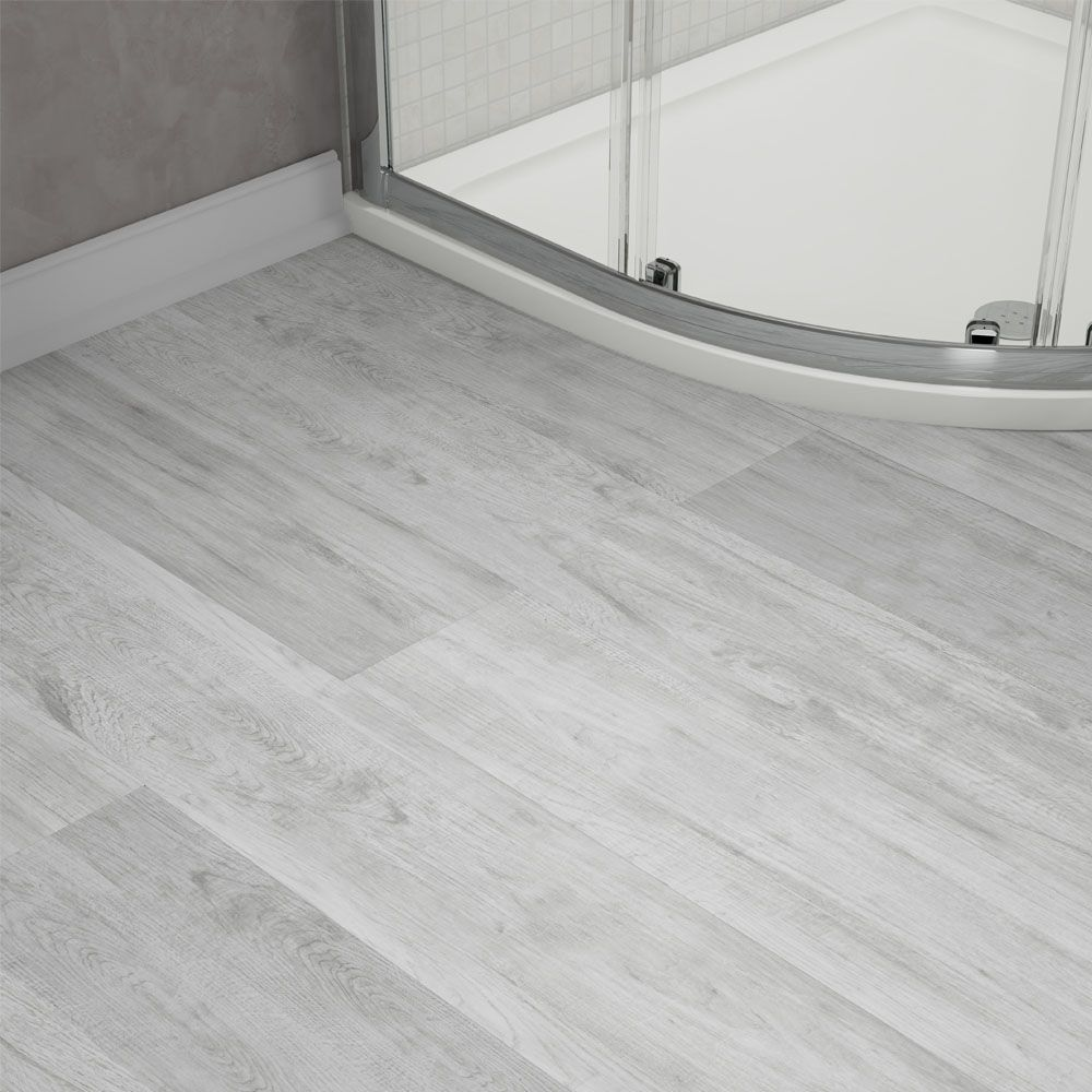 Harlow 181 X 1220mm Dove Grey Finish Vinyl Waterproof Plank Flooring Close Up Image Of G Vinyl Plank Flooring Bathroom Vinyl Flooring Bathroom Bathroom Vinyl
