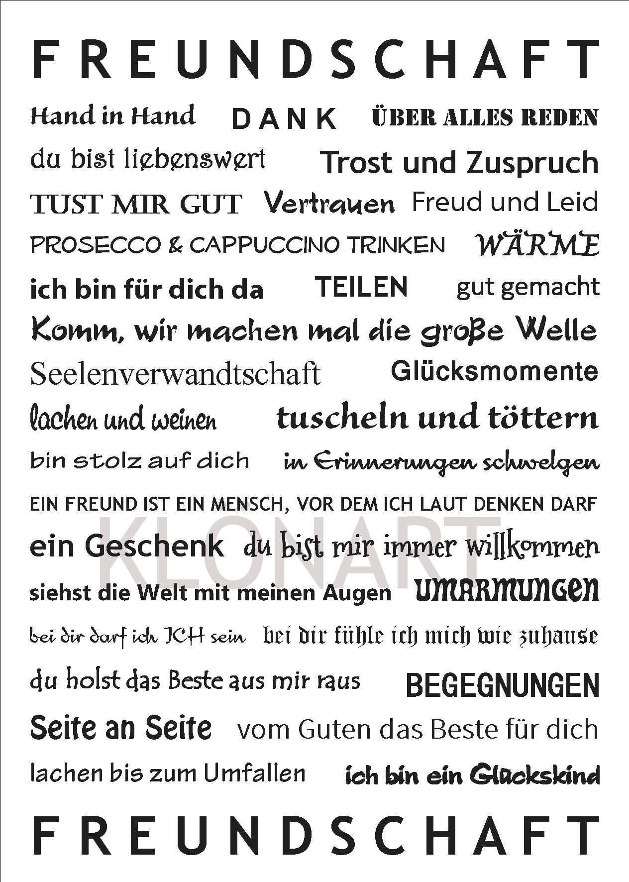 KLÖNART - Karten (Buchstaben & Worte)   KLÖNART   Wörter