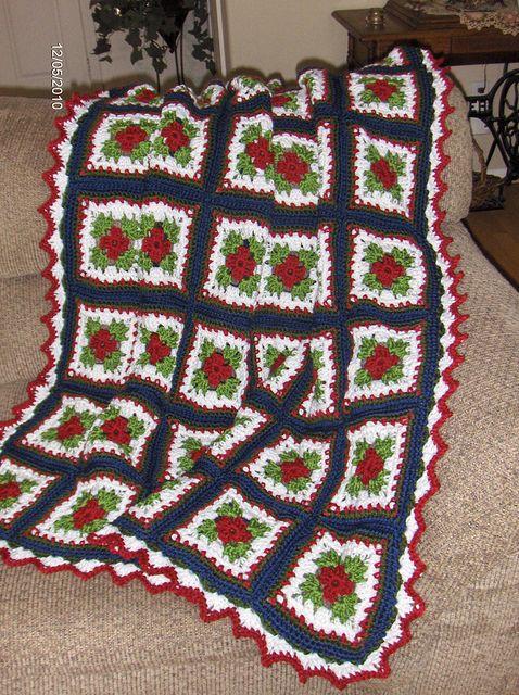 Christmas Afghan Christmas Afghan Afghans And Free Crochet Afghan
