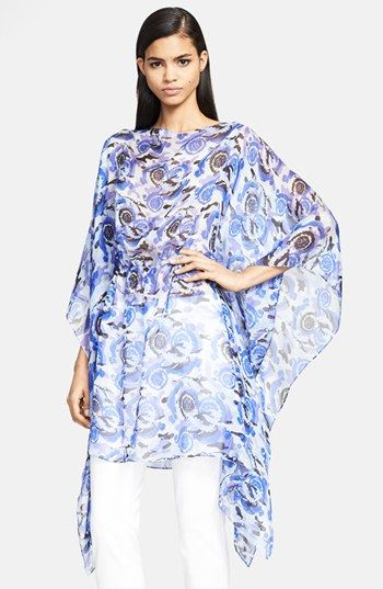 Versace Collection Gathered Waist Silk Caftan available at #Nordstrom