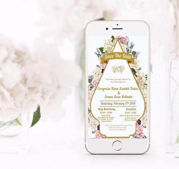 Undangan Pernikahan Online Tema Bunga Dan Budaya Undangan Pernikahan Kartu Pernikahan Kartu Undangan Pernikahan