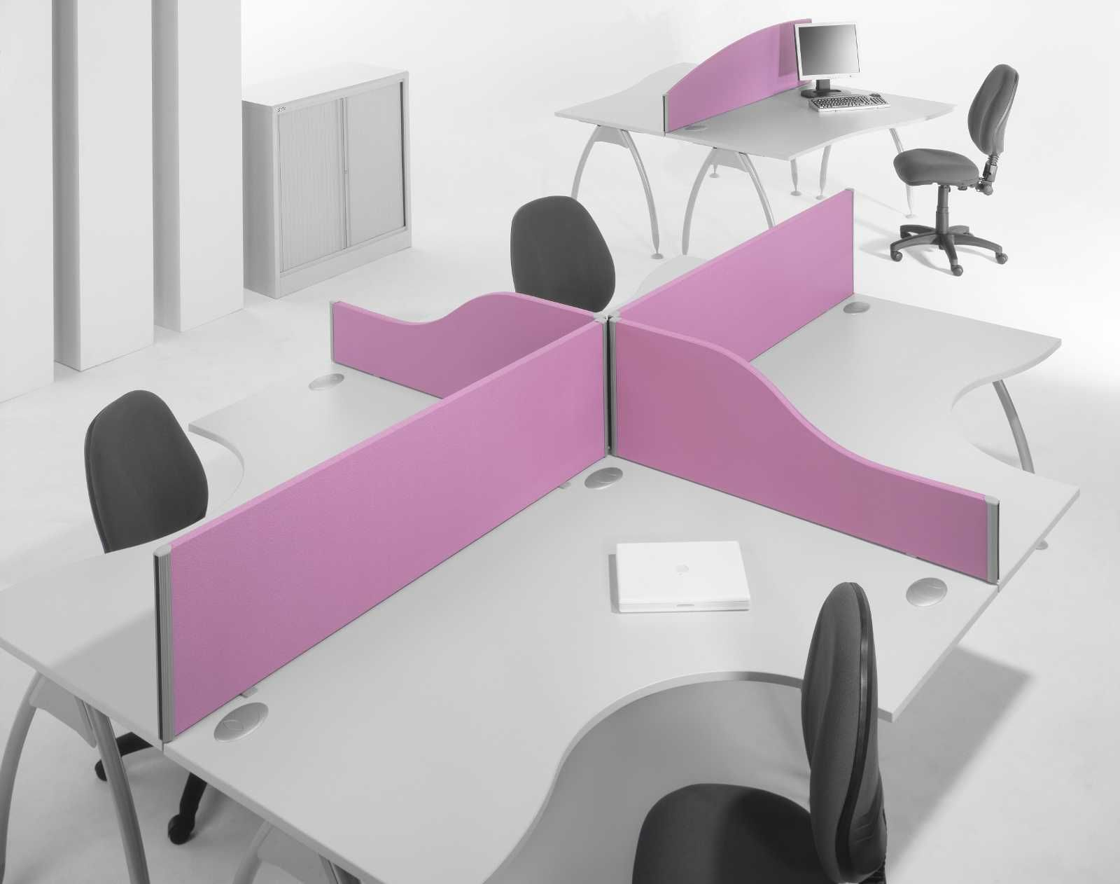 Office Table Dividers. Two Person Desk Home Fice With Coolest Purple  Devider And Nice