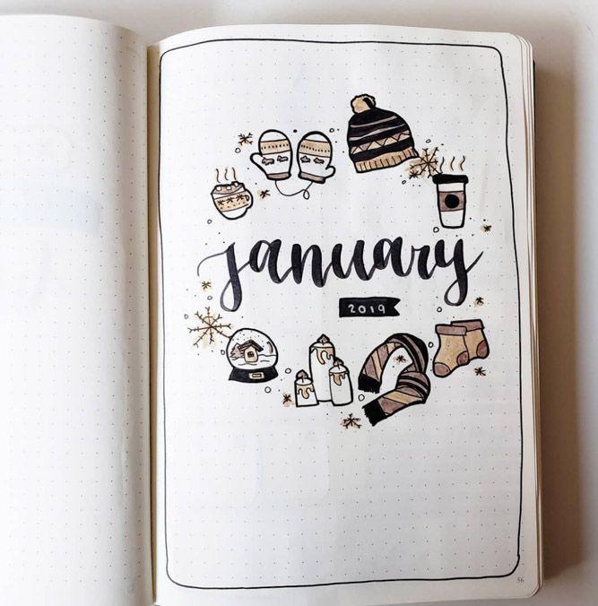 Amazing Winter Bullet Journal Theme Ideas To Try This Season #decemberbulletjournal