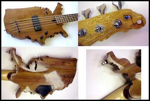 Crazy Bass Guitar Designs Bass Guitar Cool Guitar Guitar Pics