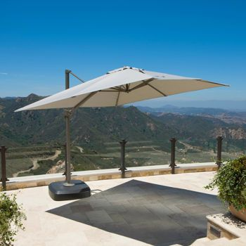 this portofino resort umbrella in weathered gray features