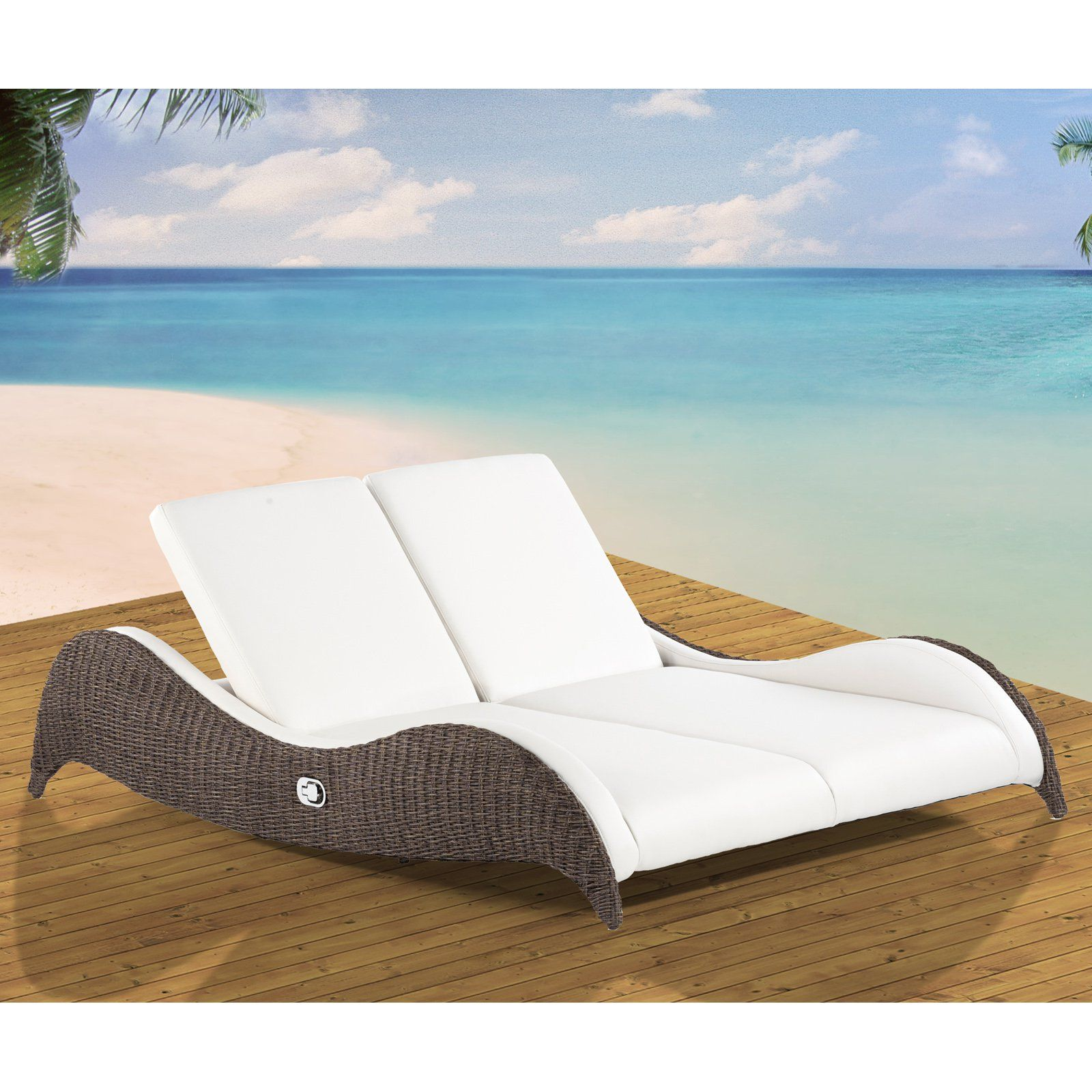 Domus Ventures Luxor Double Sunlounger Chaise Lounge | from ...