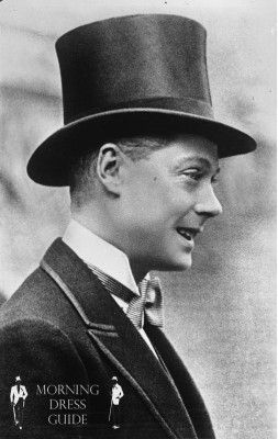 The Young Prince of Wales in Stiff Silk Plush Top Hat
