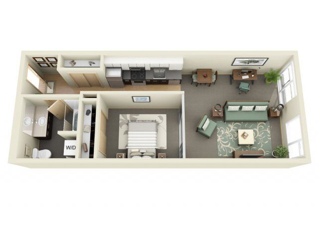 1 Bed 1 Bath Apartment In Seattle Wa Sims House Design Renting A House Apartment Layout