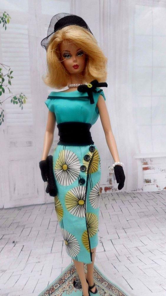 """Silkstone Handmade~Doll dress for 12/"""" Doll~ Barbie Fashion Royalty"""