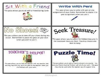 Rewards Free Reward Coupons Classroom Rewards Behavior
