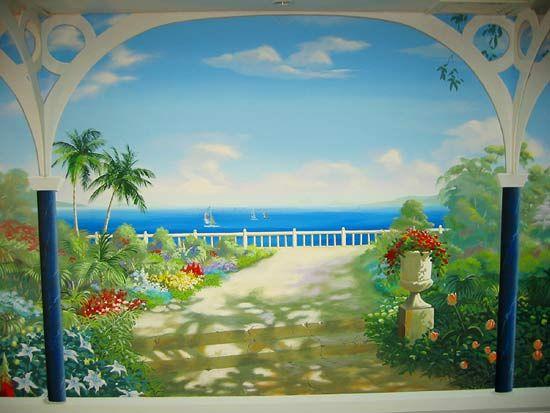 Tropical Garden Mural | +Node | Pinterest | Garden mural, Tropical ...