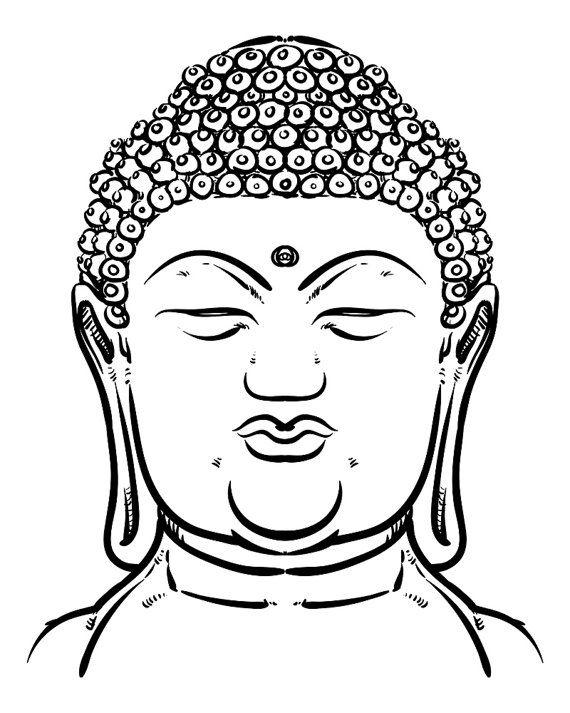 ae7f51d82f6df Thai Buddha head isolated. Esoteric vintage hand draw vector illustration…