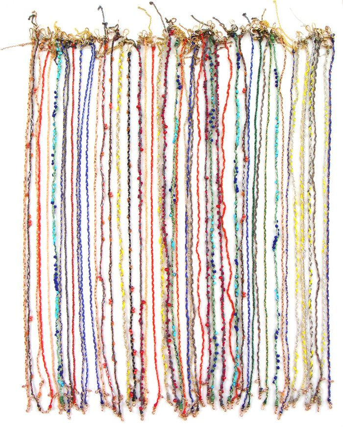 JESSICA BARENSFELD, SEAWEED WRAP BRACELETS: hand-made with lots of love and colors.