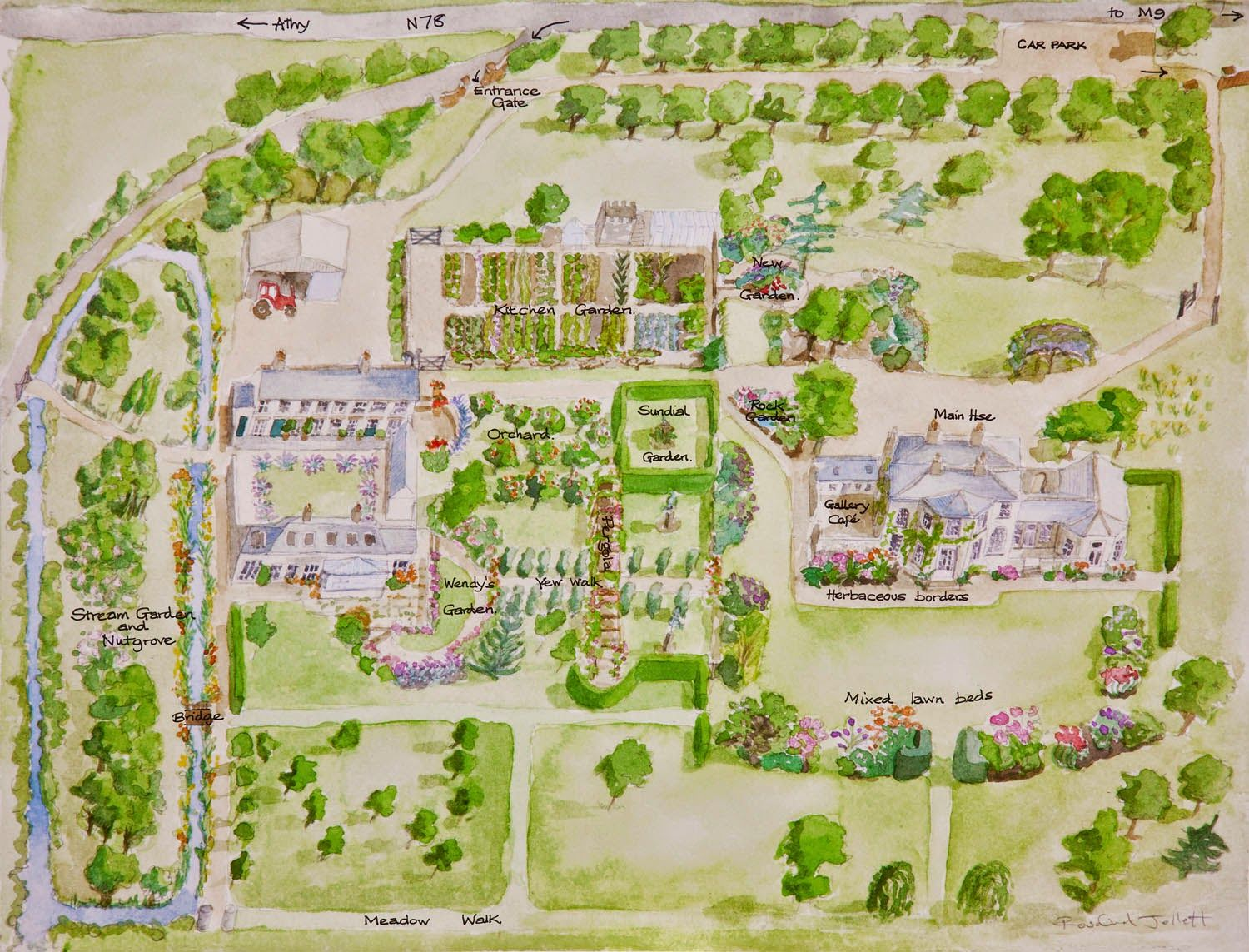 Garden Maps  Map painting, Map, Illustrated map