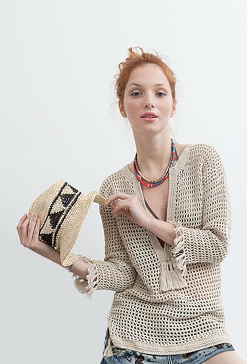 Modèle Pull Tunique - Pingo Crochet