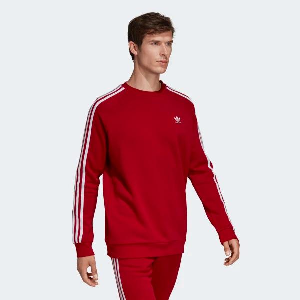 adidas - sweat crewneck 3 stripes