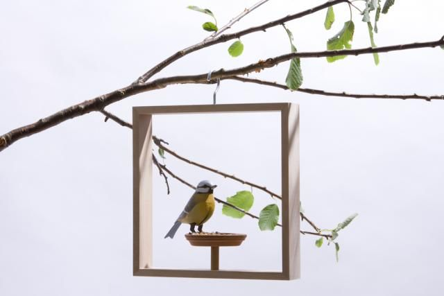 Bird Frame Feeder The idea for \'frame\' bird feeder is to create a ...