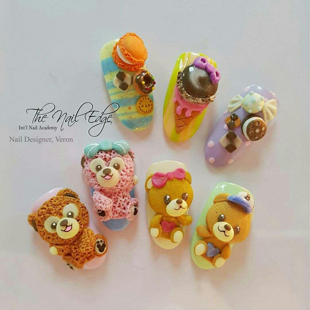 Pin by 葳琦 林 on 3D Nail | Pinterest | Kawaii nails, Art nails and ...