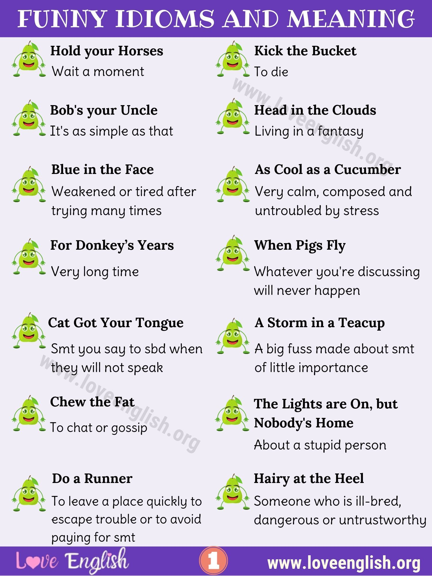 Funny Idioms List Of 25 Best Funny Idioms You May Not Know Love English English Phrases Idioms Idioms And Phrases Interesting English Words